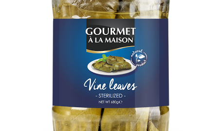 Jar of vine leaves