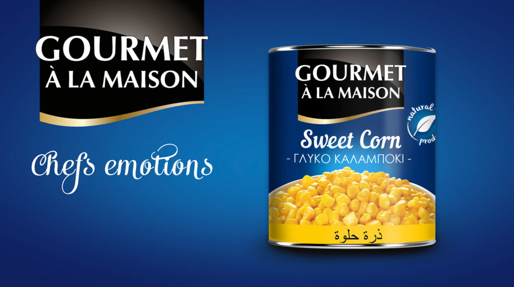 Sweet corn canned banner