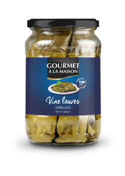 Jar of vine leaves